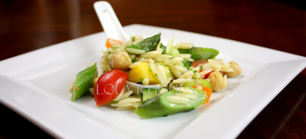 orzo pasta salad with fresh vegetables no mayo recipe