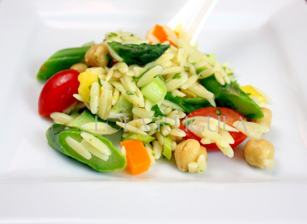 orzo pasta salad with veggies no mayo recipe
